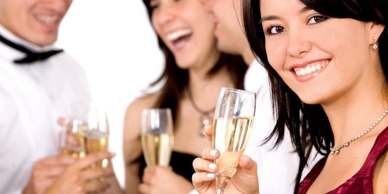 Feier in einer FeWo mit Freunden